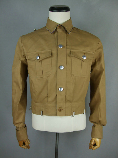 WWII German Elite SA Brown Cotton Shirt Tunic