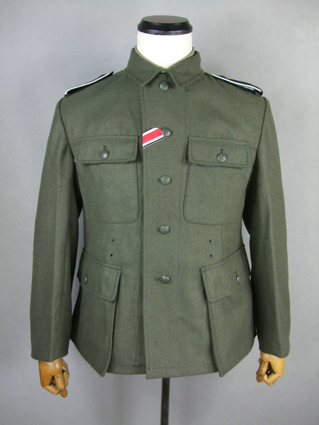 WWII German M43 EM Wool Field Grey Tunic Elite