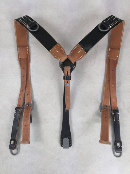 WW2 German Genuine Leather Y-Straps