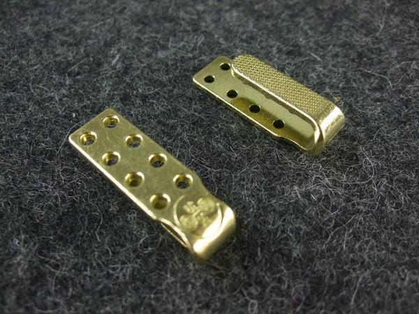 WW2 German Elite Uniform Belt Hooks Gold Pair