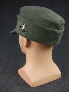 WWII German WH Gebirgsjäger Mountain Troops Wool Field Cap