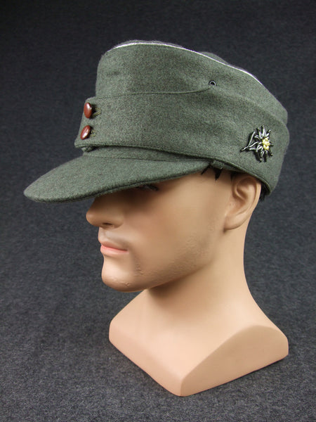 WW2 German WH Gebirgsjäger Mountain Officer Wool Field Cap