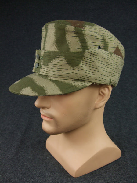 WWII German WH Gebirgsjager Mountain Troops Tan Water Camo Field Cap