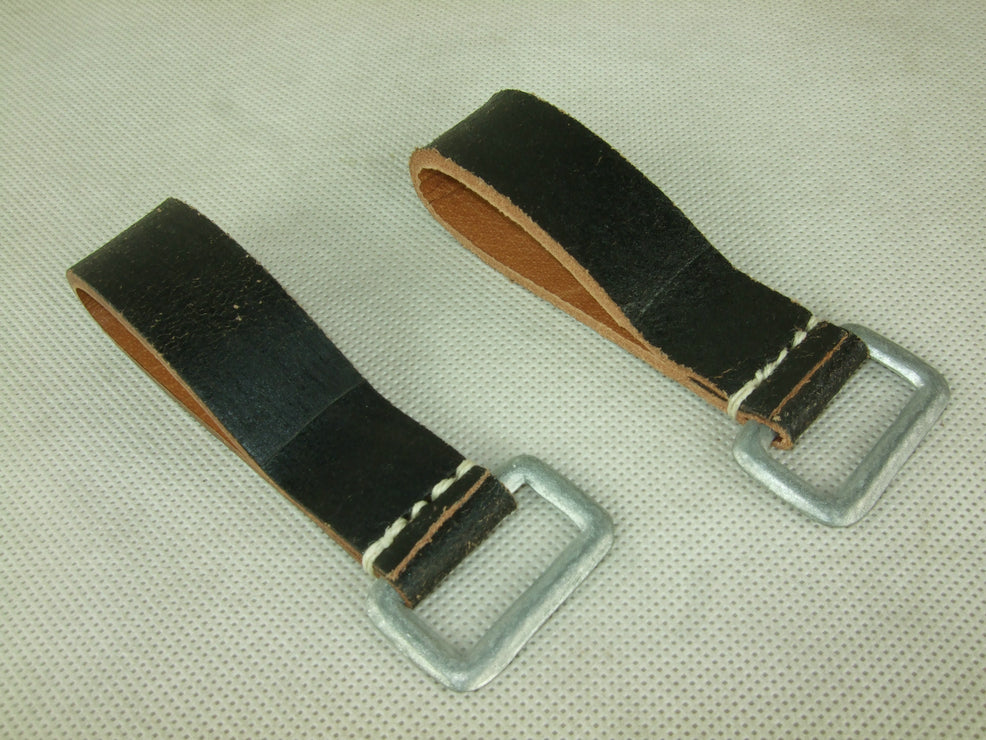 WW2 German Soldier EM Y-Straps D-Ring Black X2