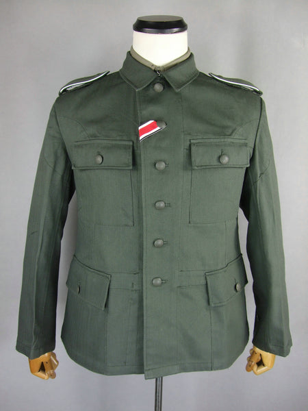 WWII German Heer EM Soldier HBT M43 Field Tunic Jacket WH