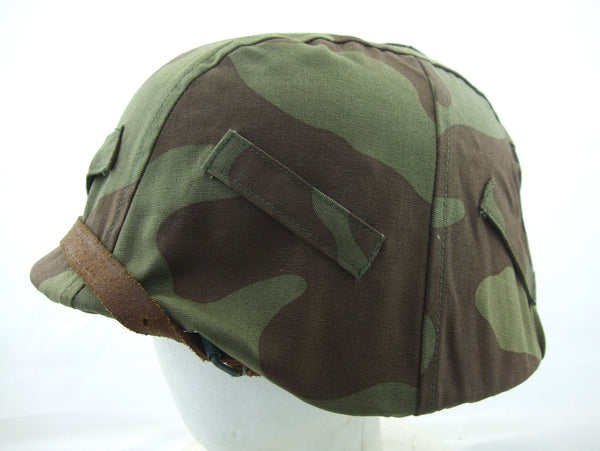 WWII German Italy Camo Helmet Cover Reproduction