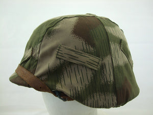 WWII German Tan & Water Camo M35 Helmet Cover