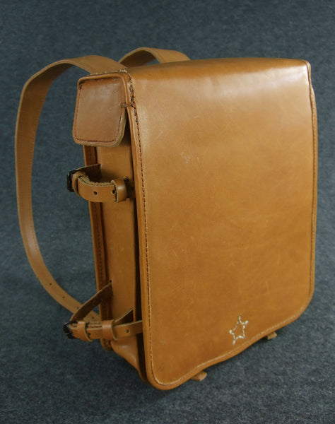 WWII Imperial Japanese Army Officer Brown Leather Bagpack