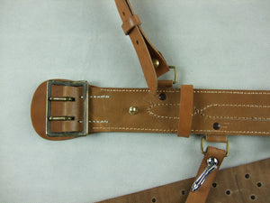 WW2 Imperial IJN Marine Officer Leather Sam Belt