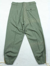 Load image into Gallery viewer, WWII German Elite M40 Field Gray Wool Panzer Trousers Pants