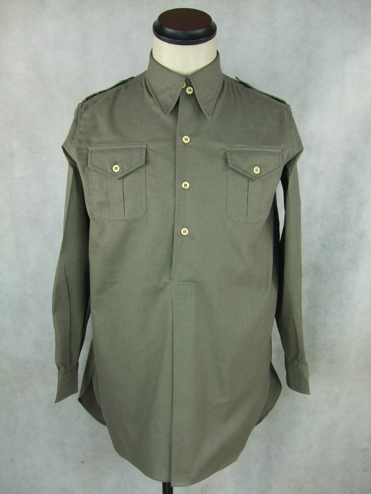 WW2 Italy Italian M1935 M35 Shirt For Officer Gray Cotton