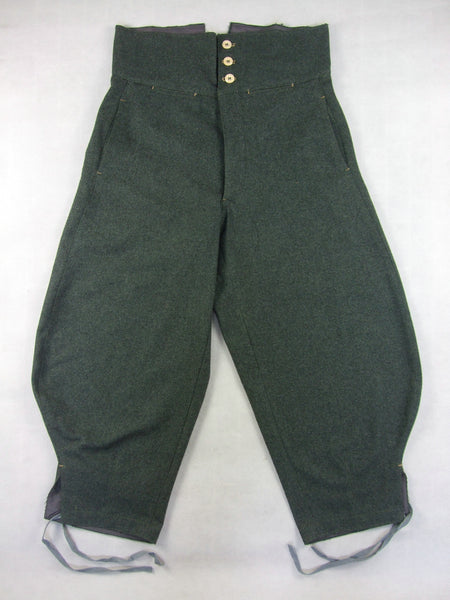 WW2 Italy Italian Infantry Troops M1935 Grey Green Wool Trousers