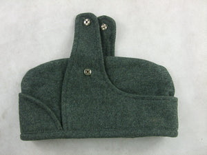 WWII Italian Grey Green Wool Garrison M34 Officer Bustina