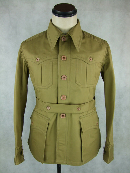 WWII Italian Tropical M40 Camiciotto Saharian Tunic Officer