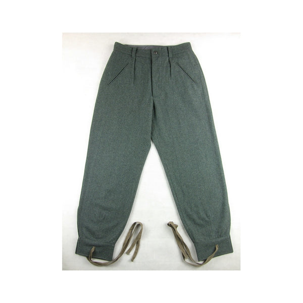 WWii Italy Italian EM Troops M41 Grey Green Wool Trousers