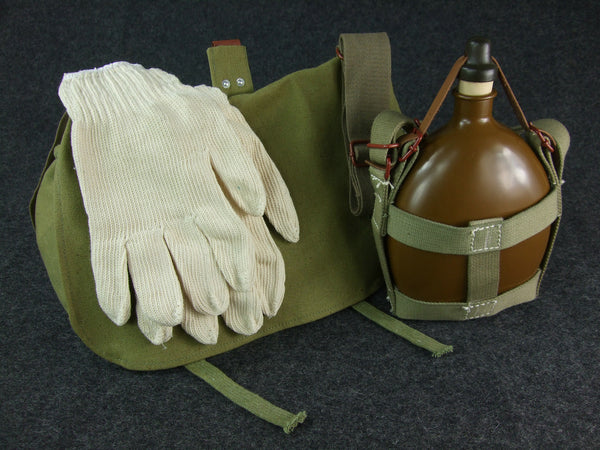 WWII Japanese IJA Canteen + Bread bag + Gloves Set Repro