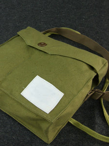 WW2 IJA Japanese Army Gas Mask Bag Green-Tan