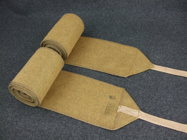 WW2 Japanese IJA Field Wool Leggings Puttee Pair