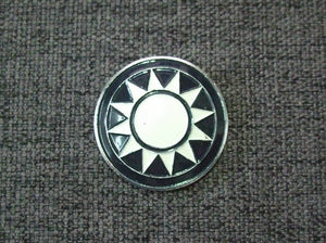 WW2 China KMT Officer Field Cap Insignia Aluminium