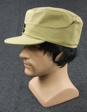 Load image into Gallery viewer, WWII China KMT Enlisted Soldier Field Cap Khaki