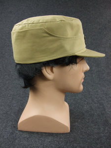 WWII China KMT Enlisted Soldier Field Cap Khaki