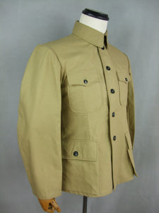WW2 Chinese KMT Soldier Field Enlisted Jacket Tunic Sand Khaki