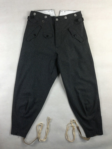 WW2 German Mountain Troops M36 Stone Gray Wool Trousers Pants