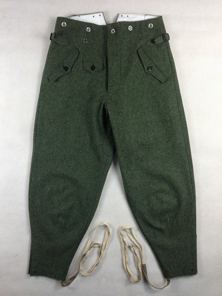 WW2 German Mountain Troops M36 Field Grey Wool Pants