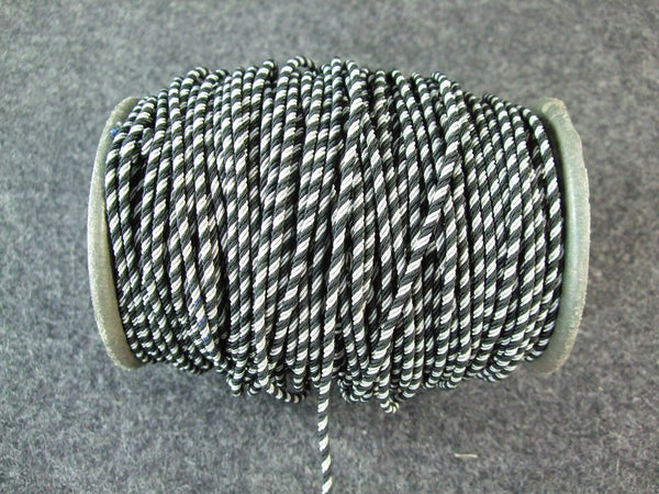 WWII German NCO Silver Black Collar Litzen Aluminum 2 Yard