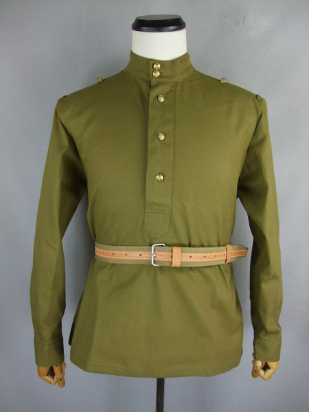 WW2 Russian M43 Private Field Gimnasterka Shirt Soldier EM Tunic Tan