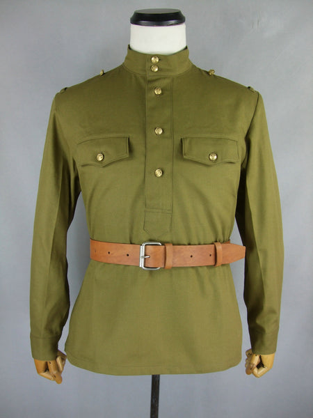 WW2 Russian M43 Field Gimnasterka Shirt Sergeant NCO Tunic Tan
