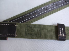 Load image into Gallery viewer, WWII Russia Red Army EM Webbing Belt Green Canvas Black Leather
