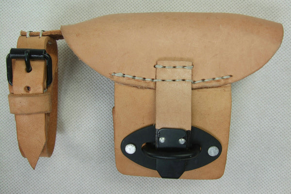 WW2 German K98 Mauser Rifle Rear Sight Hood Brown Leather