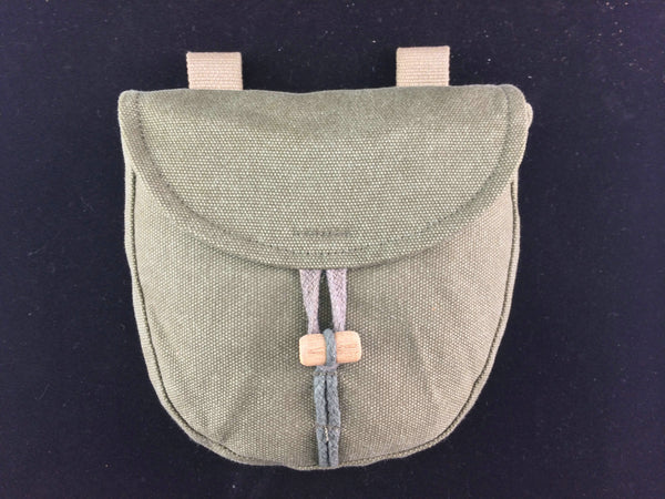 WW2 Russian Red Army PPSH 41 Drum Pouch Holder Dark Green Canvas