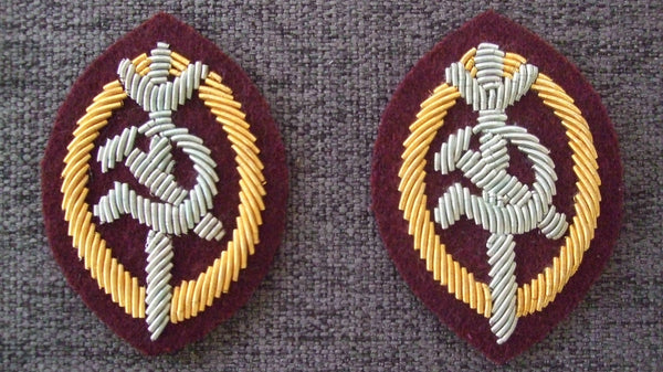 WW2 Soviet Union Russia NKVD Officer Arm Badge High Rank Pair
