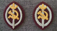 WW2 Soviet Union Russia NKVD Officer Arm Badge Low Rank Pair