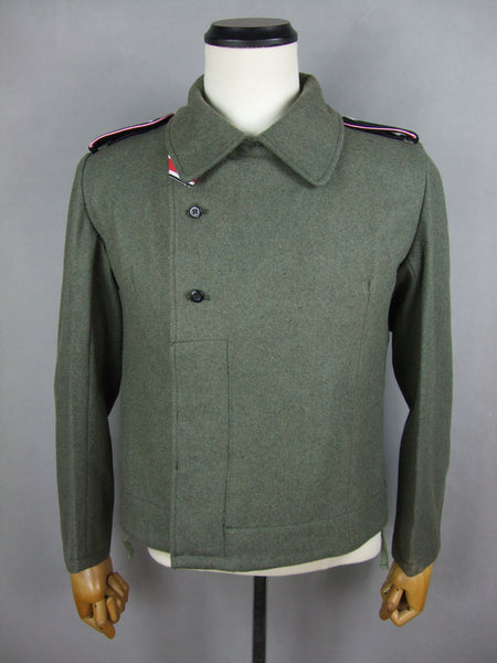WWII German Elite M40 Field Gray Wool Panzer Jacket