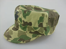 Load image into Gallery viewer, WWII USMC Camo HBT Utility Cap EGA Green