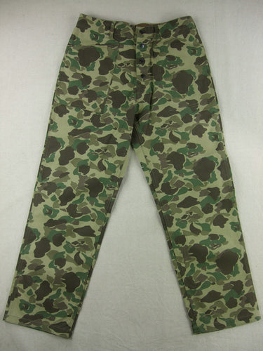 WWII United States USMC P42 Camo HBT Utility Trousers Pants
