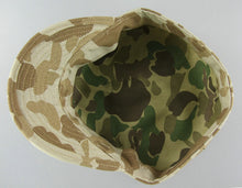 Load image into Gallery viewer, WWII US Army Camo HBT Utility Cap Brown
