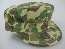 Load image into Gallery viewer, WWII US Army Camo HBT Utility Cap Green