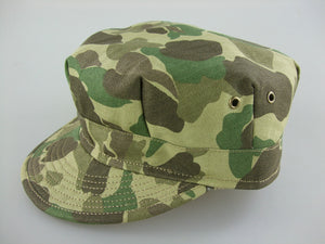 WWII US Army Camo HBT Utility Cap Green