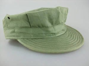 WWII WW2 US USMC Green HBT Utility Field Cap Plain