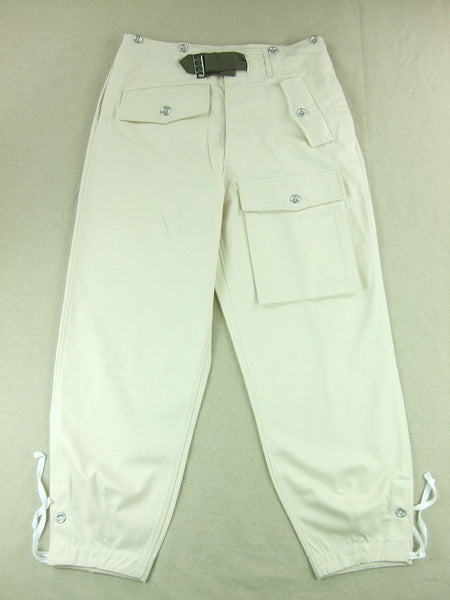 WWII German Heer Panzer Summer HBT Off-white Trousers Pants