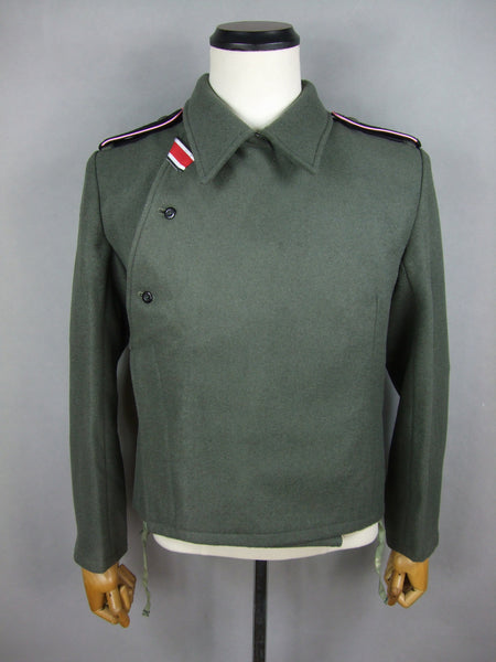 WWII German WH Heer M40 Field Gray Wool Panzer Jacket Tunic