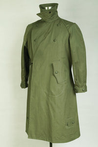 World War 2 WWII German Motorcyclist Wind Proof Overcoat Green