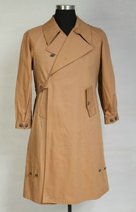 World War 2 WWII German Motorcyclist Wind Proof Overcoat Tan
