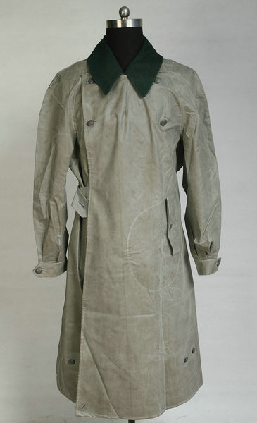WWII German Motorcyclist Rubber Raincoat