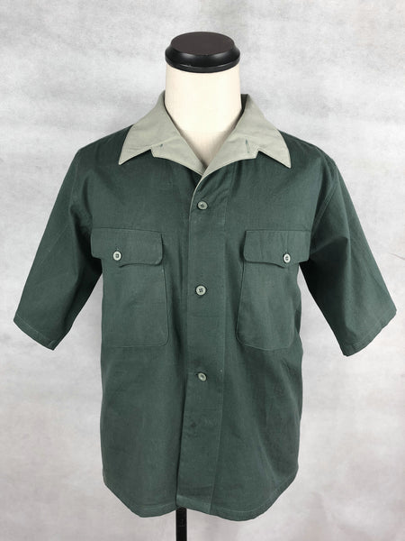 WW2 IJA Imperial Army Tropical Dark Green Summer Half Shirt