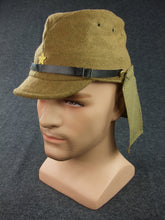 Load image into Gallery viewer, WWII Japanese Army IJA Field Cap & Havelock Set